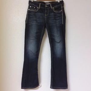 Daytrip Lyra Bootcut Jeans Flap Bling Gems Stretch